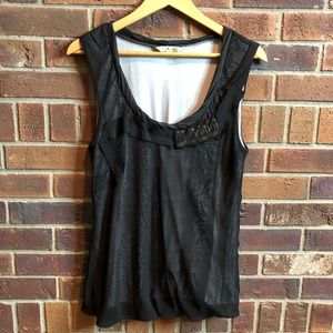 CAbi black jeweled bubble tank size M